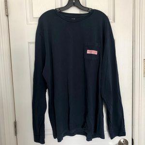 Vineyard Vibes Navy Long Sleeve T-shirt